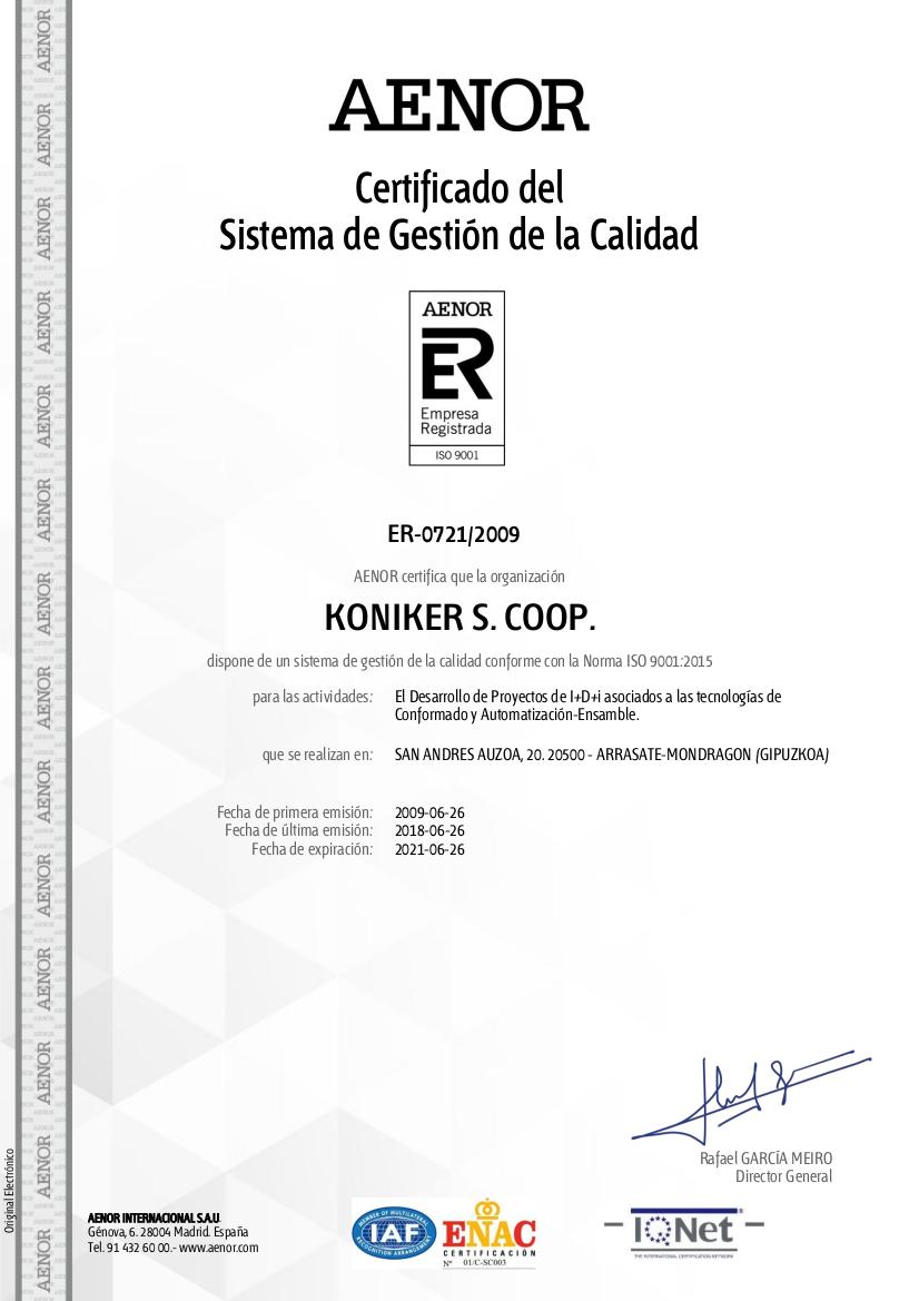 UNE-EN ISO 9001 - Qualitätsmanagement