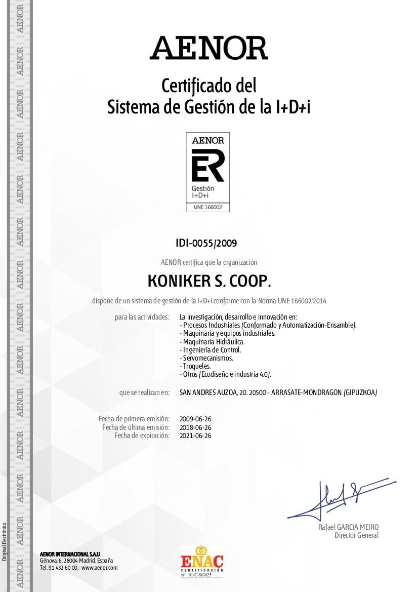 UNE 166.002 - R&D&I management