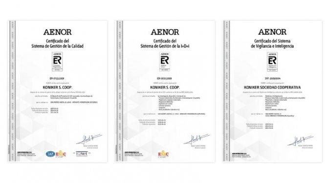 AENOR acredita el Sistema de Gestión Integral de KONIKER